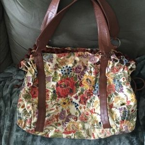 Anthropologie Tapestry Needlepoint Purse
